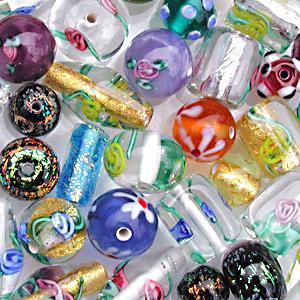 50Pcs Czech Gold Foil Lampwork Glass Butterfly Pressed Beads DIY 10mm HH6944