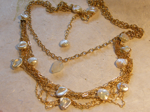 Eclectic Freshwater Pearl Necklace | Shared Designs