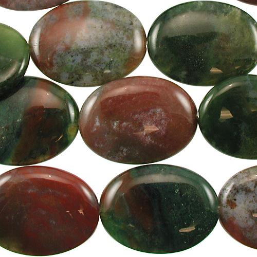30 x 40mm large oval fancy jasper bead mixed