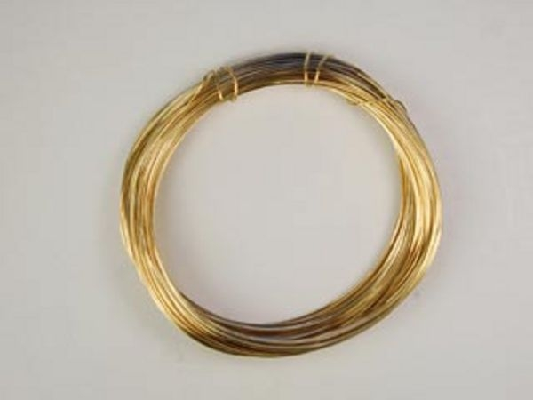 24 gauge round 14kt goldfill half hard metal wire for 24 gauge craft wire