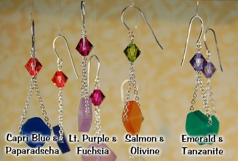Image Chain and Jelly Featherweight Earrings