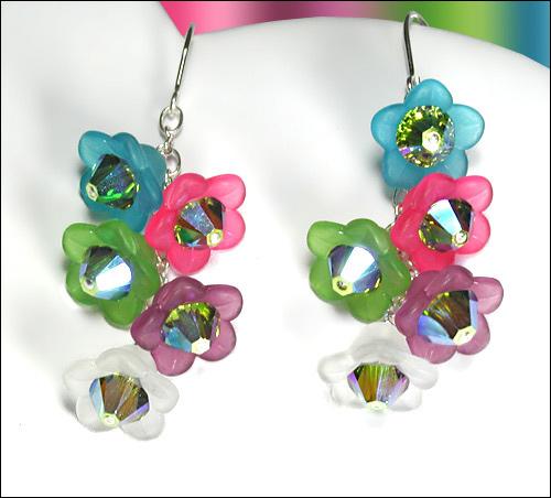 Image Cascading Flower Earrings