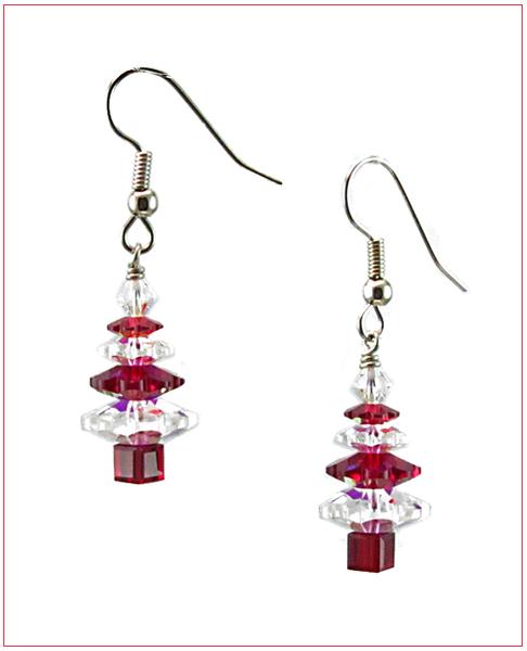 Image Christmas Spirit Tree Earrings