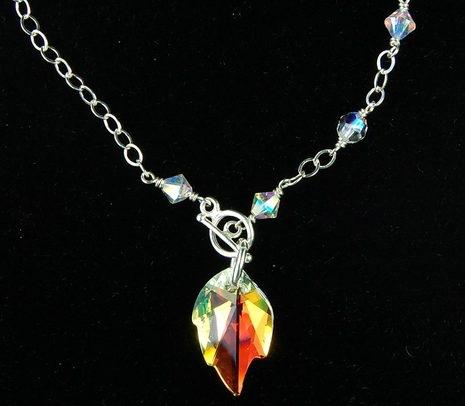 Image Crystal Leaf Necklace