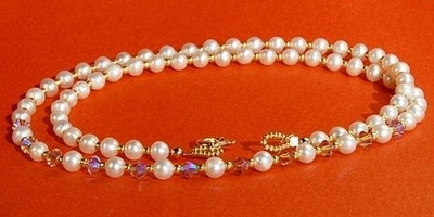 Pearl, Crystal and Seed Bead Necklace | Jewelry Design Ideas