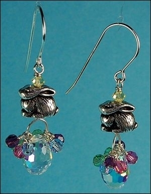 bunny in a basket earrings jewelry design ideas - Earring Design Ideas