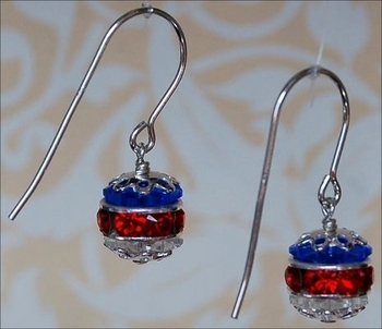 Independence Day Earrings Jewelry Design Ideas