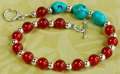 ethnic gemstone bracelet jewelry design ideas - Beaded Bracelet Design Ideas