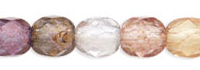 Czech Pressed Glass 4mm Faceted Round Bead - Mix - Transparent Luster Finish
