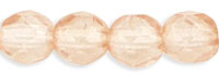 Czech Pressed Glass 4mm faceted round Champagne transparent luster   Czech Pressed Glass