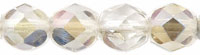 Czech Pressed Glass 6mm faceted round Twilight Crystal transparent luster | Czech Pressed Glass