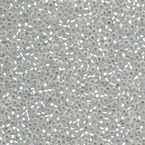 Japanese Miyuki Glass Seed Bead Size 11 - Crystal - Silver Lined Matte Finish
