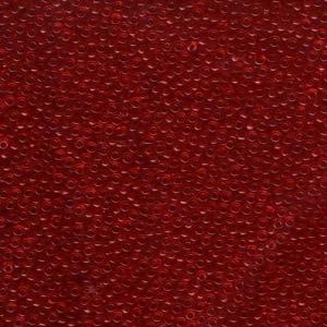 Japanese Miyuki Glass Seed Bead Size 11 - Red - Transparent Finish