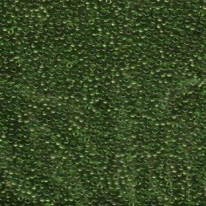 Japanese Miyuki Glass Seed Bead Size 11 - Olive Green - Transparent Finish