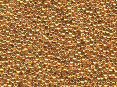 Japanese Miyuki Glass Seed Bead Size 11 - 24kt Gold Plate - Metallic Finish