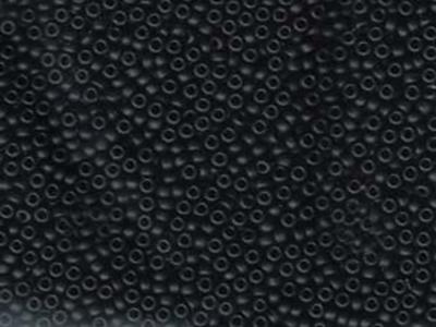 Japanese Miyuki Glass Seed Bead Size 11 - Black - Opaque Matte Finish