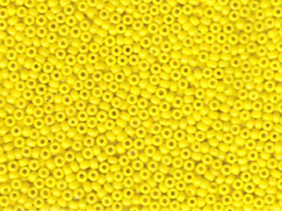 Japanese Miyuki Glass Seed Bead Size 11 - Yellow - Opaque Finish