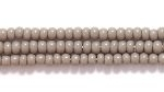 Czech Glass Seed Bead Size 11 - Grey - Opaque Finish