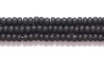 Czech Glass Seed Bead Size 11 - Black - Opaque Matte Finish