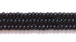 Czech Glass Seed Bead Size 11 - Black - Opaque Finish