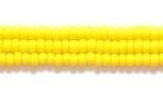 Czech Glass Seed Bead Size 11 - Dark Yellow- Opaque Matte Finish