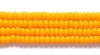 Czech Glass Seed Bead Size 11 - Light Orange - Opaque Matte Finish