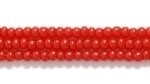 Czech Glass Seed Bead Size 11 - Dark Red - Opaque Finish