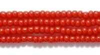 Czech Glass Seed Bead Size 11 - Mahogany Reddish Brown - Opaque Finish