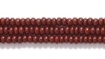 Czech Glass Seed Bead Size 11 - Chocolate Brown - Opaque Finish