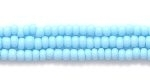 Czech Glass Seed Bead Size 11 - Pale Turquoise Blue - Opaque Finish