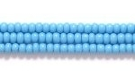 Czech Glass Seed Bead Size 11 - Dark Turquoise Blue - Opaque Finish