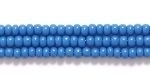 Czech Glass Seed Bead Size 11 - Teal Blue - Opaque Finish