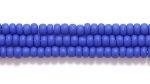 Czech Glass Seed Bead Size 11 - Royal Blue - Opaque Matte Finish