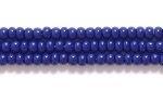 Czech Glass Seed Bead Size 11 - Navy Blue - Opaque Finish