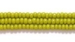 Czech Glass Seed Bead Size 11 - Olive Green - Opaque Finish