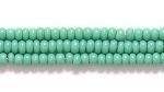 Czech Glass Seed Bead Size 11 - Kelly Green - Opaque Finish