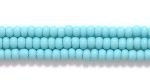 Czech Glass Seed Bead Size 11 - Turquoise Green - Opaque Matte Finish