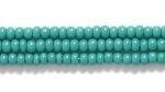 Czech Glass Seed Bead Size 11 - Blue Green - Opaque Finish