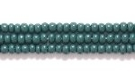 Czech Glass Seed Bead Size 11 - Forest Green - Opaque Finish