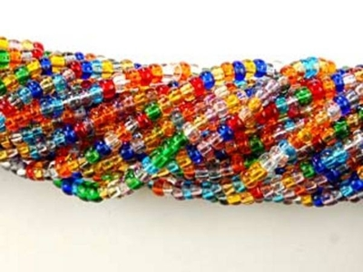 Czech Glass Seed Bead Size 11 - Mixed Colors - Transparent Finish