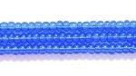 Czech Glass Seed Bead Size 11 - Dark Sapphire Blue - Transparent Finish