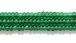 Czech Glass Seed Bead Size 11 - Medium Green - Transparent Finish | Harlequin Beads and Jewelry