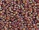 Japanese Miyuki Glass Seed Bead Size 15 - Dark Topaz AB - Matte Transparent Finish