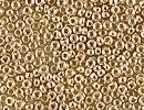 Japanese Miyuki Glass Seed Bead Size 15 - 24k Light Gold Plated - Metallic Finish