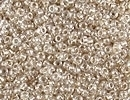 Japanese Miyuki Glass Seed Bead Size 15 - Sparkle Beige - Color Lined