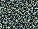 Japanese Miyuki Glass Seed Bead Size 15 - Patina Iris - Matte Metallic Iridescent Finish
