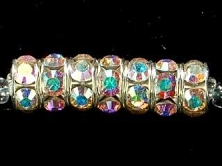 Swarovski Crystal 6mm Rhinestone Rondell Bead 1775 - Crystal - Iridescent Clear - Nickel-free Silver Finish