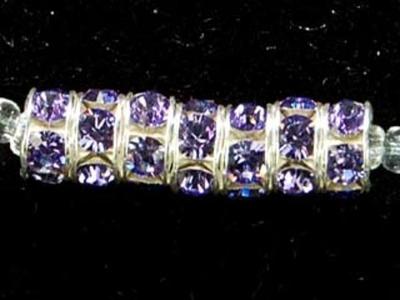 Swarovski Crystal 6mm Rhinestone Rondell Bead 1775 - Tanzanite - Bluish Purple - Nickel-free Silver Finish