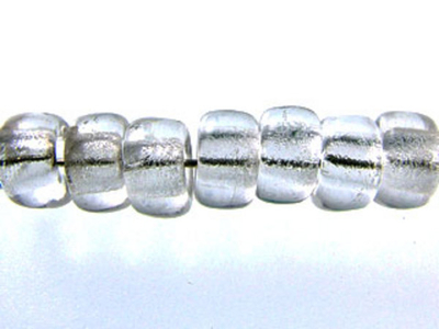 Czech Pressed Glass 6mm Crow Bead - Crystal Clear - Transparent Finish