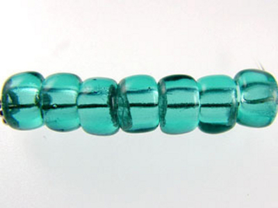 Czech Pressed Glass 6mm Crow Bead - Teal Blue - Transparent Finish